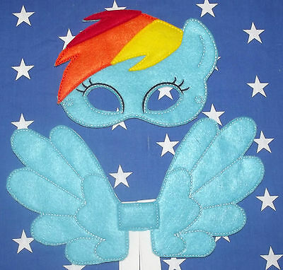 Kids Eye Mask and Small Wings Set - Rainbow Dash - My Little Pony