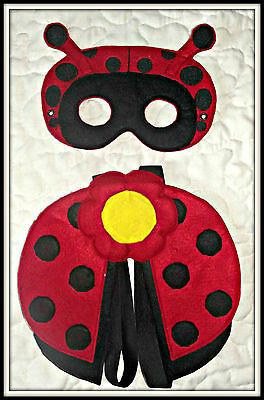 Lady Bug Eye Mask & Wings - Costume, Dress up