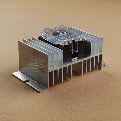New One Heat Sink For SSR Solid State Relay 25A 40A 50A 60A 70A 80A TO 100A