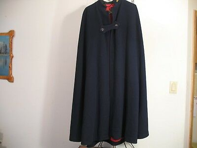 "VINTAGE 1940""s 50's  WOMEN'S WOOL NURSES CAPE OUTERWEAR & JACKET RED & NAVY BLUE"