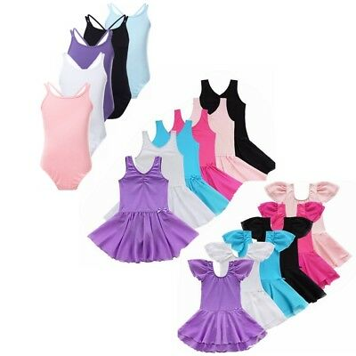 Girl Gymnastics Leotard Dress Ballet Leotard Dance Tutu Skirt Dancewear Costume