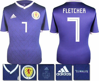 Fletcher 7 - Scotland Home 2018 Adidas Shirt Ss = Kids