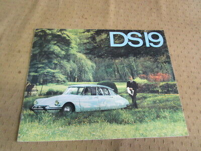 Catalogue Brochure Depliant  Citroen  Ds19  Langue Espagnol