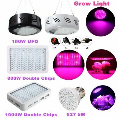 LED Grow Light Hydroponic Medical Indoor Plants Panel Lamp Flower Full Spectrum