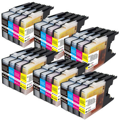 24 PK Ink Set LC71 LC75 Compatible for Brother MFC-J425W MFC-J430W MFC-J825DW
