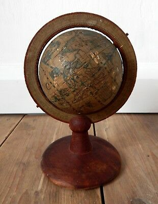 Vintage Desk Top Globe World Map Antique Style Very Shabby Decorative Desktop