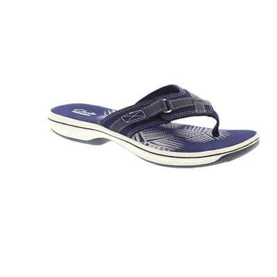 e59e92724fc5 CLARKS BRINKLEY SEA - Navy Synthetic (Textile) Womens Sandals ...