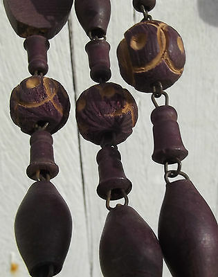 Antique French Rosary Beads Large carved wooden beads priests waist worn