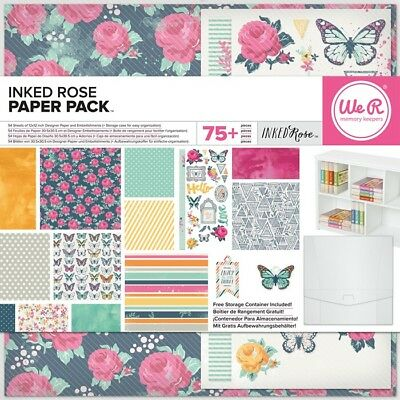 Inked Rose We R Memory Keepers Paper Pack