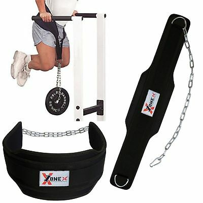 OneX Fitness Weight Lifting Dipping Belt With Chain Dip Belt Pull Up Belt