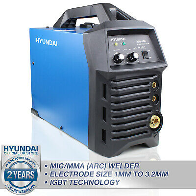 Hyundai Welding Machine MIG / MMA / ARC 180 Amp Welder complete Kit HYMIG180