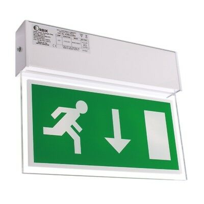 Double-Sided Hanging LED Fire Exit Sign - Romney