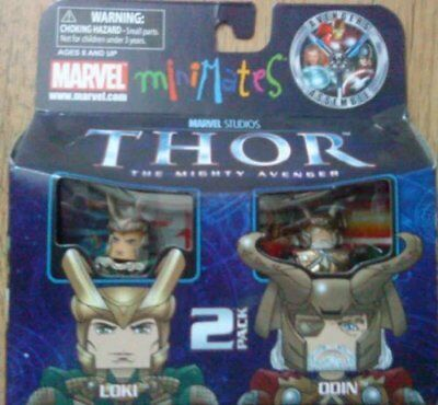 Marvel Minimates Thor The Mighty Avenger Odin And Loki Figures Diamond Select