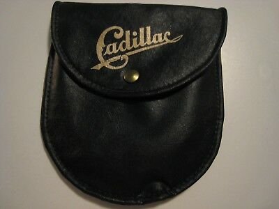 Vintage collectible Cadillac vinyl pouch NEW NEVER USED good storage use.