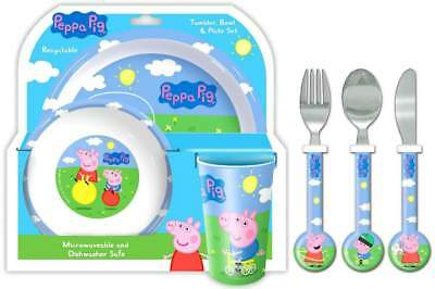 Peppa Pig: Peppa and George 6-Piece Dinner and Cutlery Set | Mealtime |Tableware