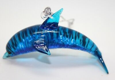 Dolphin Ornament/Blown Glass Art/Home Decor/Handcrafted