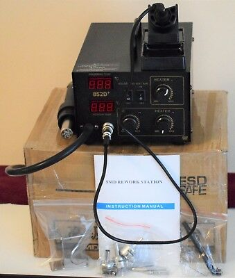 852D+ Hot Air Rework Station With Soldering Iron. New. Boxed. 700w 220v.
