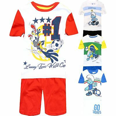 Boys Shorts & T-Shirt Set Baby Summer World Cup Brazil Argentina 3-36 Months