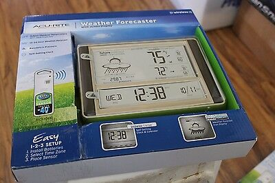 ACURITE 75075W Digital Weather Station Forecast Temperature Clock