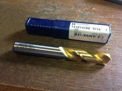 ".5625"" 9/16"" HSCO TiN COATED SCREW MACHINE LENGTH DRILL"
