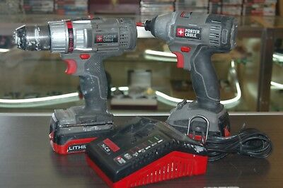 Porter Cable 18V Drill Set with Two Batteries and Charger