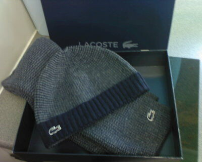 LACOSTE MEN/'S CABLE KNIT STRIPE SCARF RE6255 ONE SIZE Was £70.00