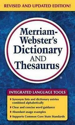 NEW Merriam-Webster's Dictionary and Thesaurus By Merriam-Webster Inc. Paperback