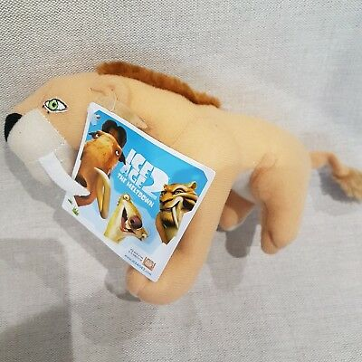 "Ice Age NEW Diego Sabre Tooth Tiger Soft toy 7"" long"