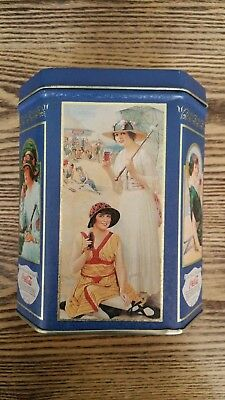 Vintage Decorative Coca-Cola Tin Canister (Beautiful Beach Ladies)