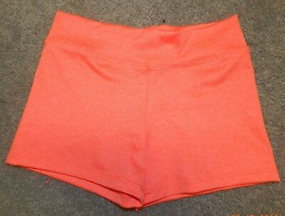 Youth Size Medium--Trendy Trends Brand Coral/orange Dance Shorts--Excellent