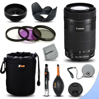 Canon EF-S 55-250mm F4-5.6 IS STM Lens + Essential Kit for Canon EOS 6D