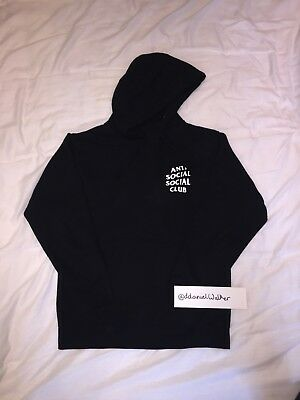 713742f6e2610 ANTI SOCIAL SOCIAL Club Mind Games Hoodie Size S Small BLACK ASSC ...