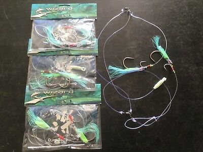 shimano beastmaster   Deep Drop Rigs Qty 3   14/0  2 Hook Set Promo