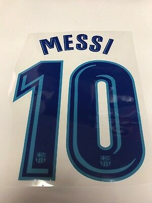 7b3633a77 MESSI NAME SET Name And Number  10 Barcelona Home Jersey 17 18 ...
