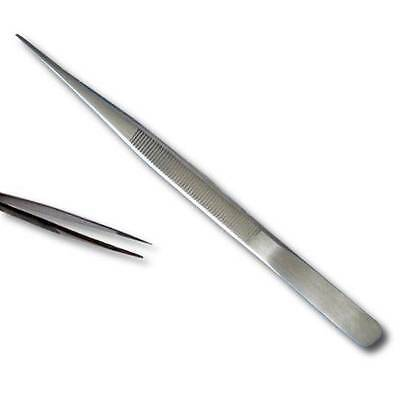 """KENT 6.5"""" Stainless Steel Tweezers with Serrated Jaws"""