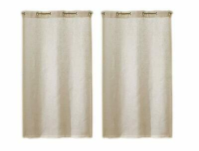 Linder 0323 //10//415 Paire de Vitrages Droits Etamine Blanc Passe Tringle 55 x 90 cm