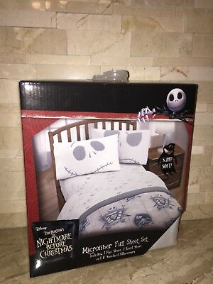 Disneys The Nightmare Before Christmas Microfiber Full Sheet Set