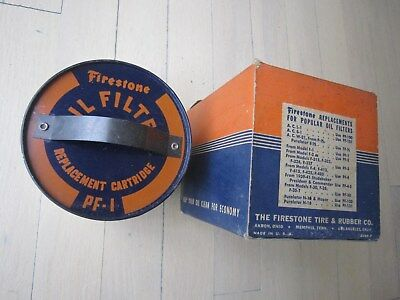 Vintage NOS Firestone Oil Filter Replacement Cartridge PF-1 Man Cave