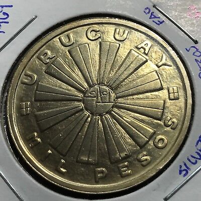 1969 Uruguay Silver 1000 Pesos Fao Limited Issue Crown Coin Gem Uncirculated