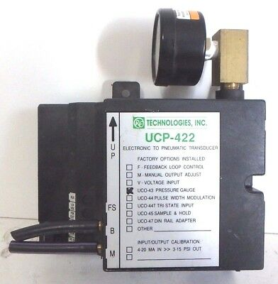 RE Technologies Electronic to Pneumatic Transducer 24VDC #0605151152