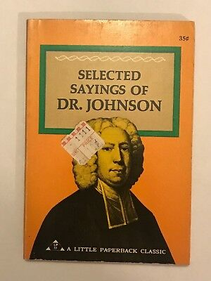 Selected Sayings of Dr. Johnson 1969 Pyramid Antique Book