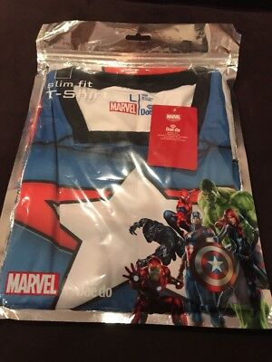 Marvel Captain America T-shirt  Slim Fit Large New In Pack