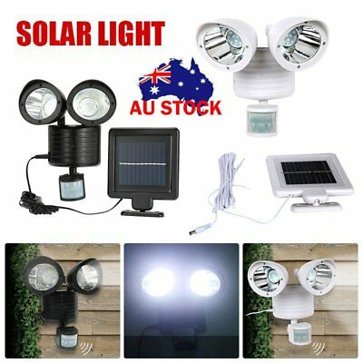 LED Solar Power Motion Sensor Wall Light Outdoor Waterproof Garden Security Lamp