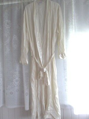 "DAVID JONES"" SIZE M PURE SILK 100% LONG RAP- GOWN with SASH. VGC.EUC. DELICATE"