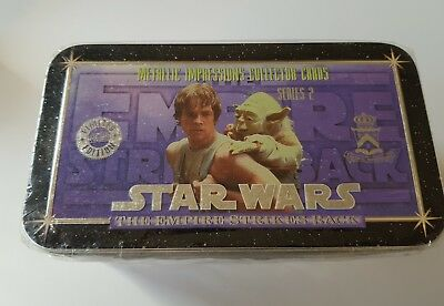 STAR WARS metallic impressions collector cards, series 2 sealed