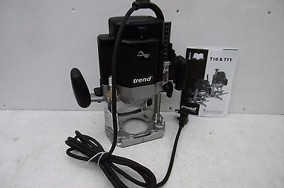Trend  T11E   2000Watt  Plunge Router Only Ideal For Table Mounting   240V