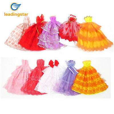 5pcs Fashion Party Short Dress Princess Gown Clothes Outfit for Barbie Doll US