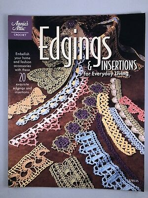 Edgings And Insertions Crochet Pattern Book