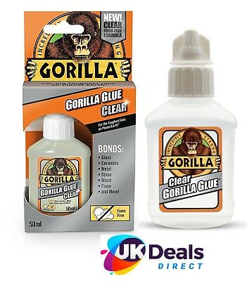 Gorilla Glue Super Tough Waterproof All Purpose Adhesive Glue 50 ml CrystalClear