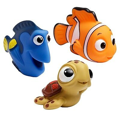 Kids Baby Bath Toys Disney Finding Nemo Dory Turtle Kids Toy Squirt , 3 Packs